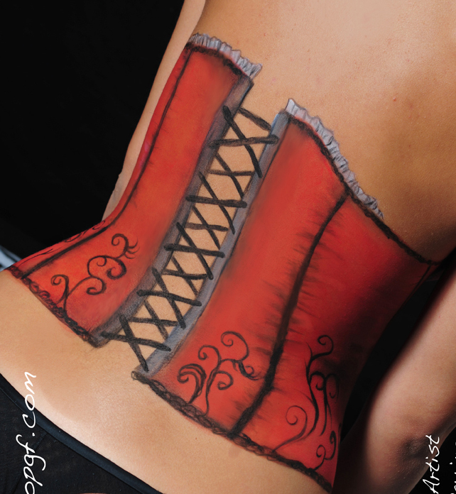 Valy Make Up body paint corset